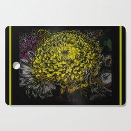 Black yellow art Cutting Board
