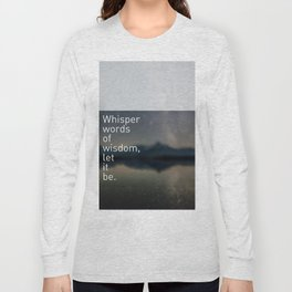 Words ~ Lyrics ~ Whisper Long Sleeve T-shirt