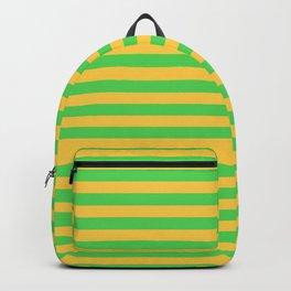 Horizontal Stripes (Green & Orange Pattern) Backpack