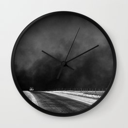 Vintage Country Road Landscape Wall Clock