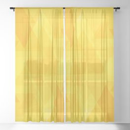 Bright yellow triangles in intersection and overlay. Sheer Curtain