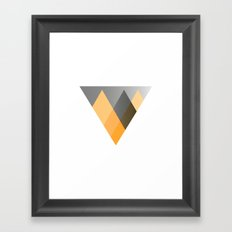 Landscape in Orange Framed Art Print