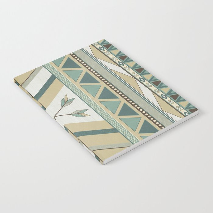 Aztec Pattern Arrows Notebook