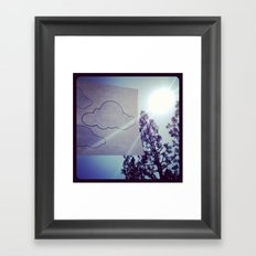 Clouds. Framed Art Print
