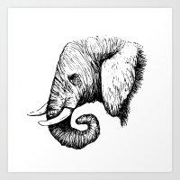 Modern Elephant Art Print