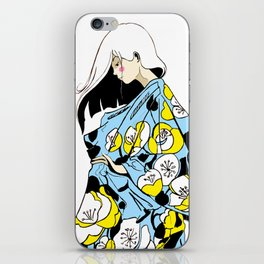 Yellow and White Poppies iPhone Skin