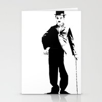 chaplin Stationery Cards featuring Chaplin by Vee Ladwa