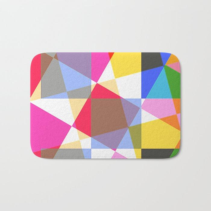 geometric sparkling colors. Bath Mat