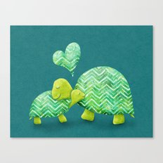 Turtle Hugs Canvas Print