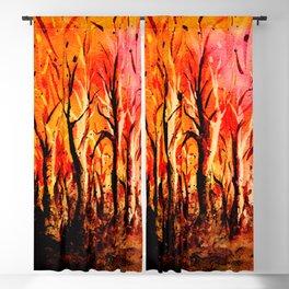 Dark Burning Forest Blackout Curtain