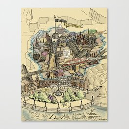 Know Your Way In and Around Diagon Alley {And Knockturn, Horizont Alleys} - Muggle Edition Canvas Print