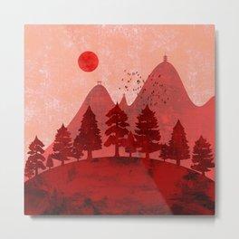 Hills and mountains of Japan Metal Print