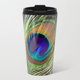 peacock feather Travel Mug