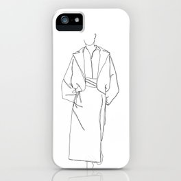 Fashion illustration line drawing - Marge iPhone Case