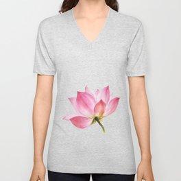 Pink Lotus #1 Unisex V-Neck