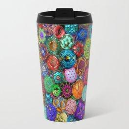 Glass Buttons Travel Mug