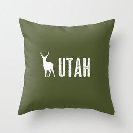 Deer: Utah Throw Pillow