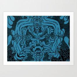 Hyperborean Lock(BLUE) Art Print