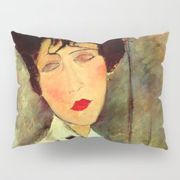 "Amedeo Modigliani ""Woman in Black Tie"" Pillow Sham"