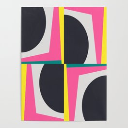 Modern Geometric 65 Pink Poster