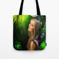 amy hamilton Tote Bags featuring Amy by Robin Curtiss