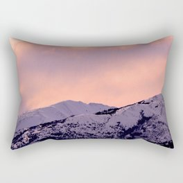 Kenai Mts Bathed in Serenity Rose Rectangular Pillow