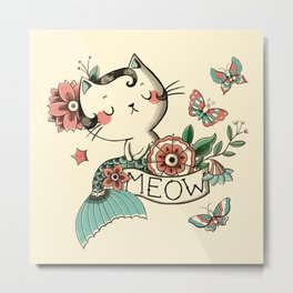 Born to Meow Metal Print