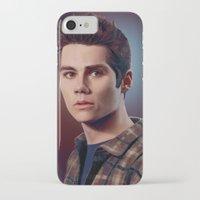 stiles stilinski iPhone & iPod Cases featuring Stiles Stilinski / Dylan O'Brien by theconsy