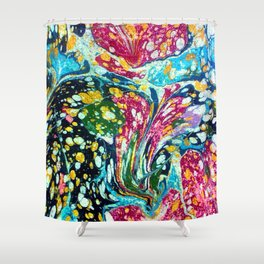 Spotted & Marbled Shower Curtain