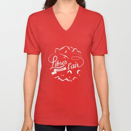 Free as a bird - Libres comme l'air Unisex V-Neck