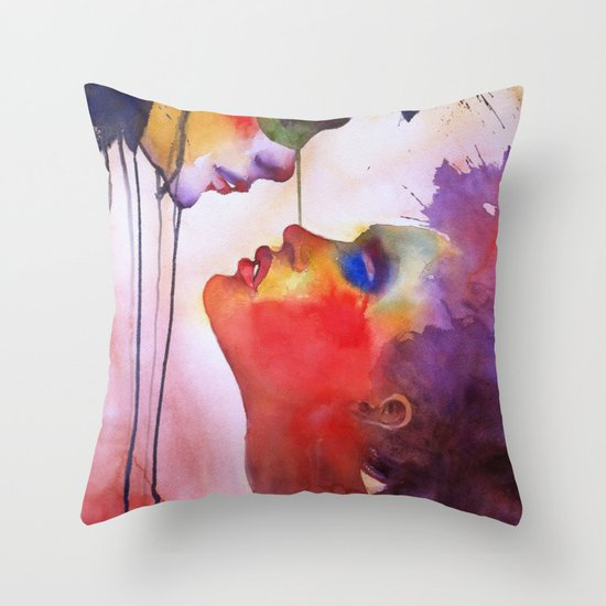I love you, I hate you Throw Pillow