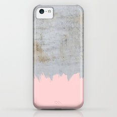 Paint with pink on concrete iPhone 5c Slim Case