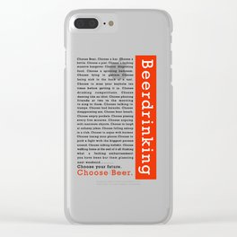 Choose Beer Clear iPhone Case