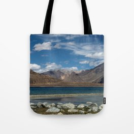 Pangong Tso Lake Tote Bag