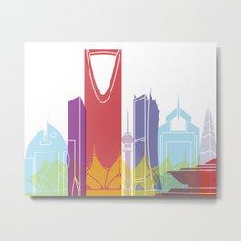 Riyadh skyline pop Metal Print