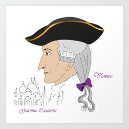 Giacomo Casanova Art Print