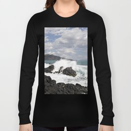 The Power of Sea on the Isle of Sicily Long Sleeve T-shirt