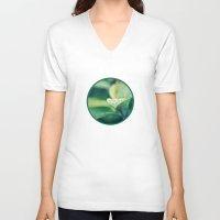 leaf V-neck T-shirts featuring Leaf by Crazy Thoom