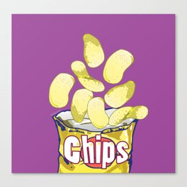 Potato Chips : Junkies Collection Canvas Print