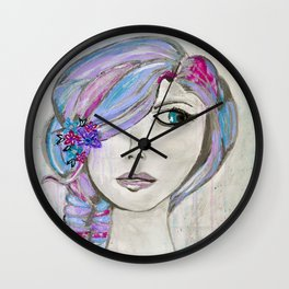 'Colourful Awareness' by Jolene Ejmont Wall Clock