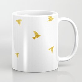 Raven Birds in Gold Copper Bronze Coffee Mug
