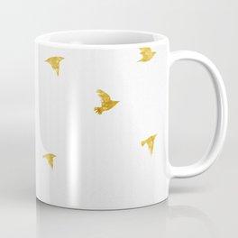 Raven Birds in Gold Copper Bronze Coffee Mug