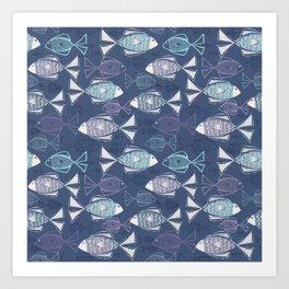 Here, Fishy Fishy Art Print