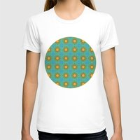 yellow pattern T-shirts featuring Yellow Salsify Flower Pattern by Peter Gross