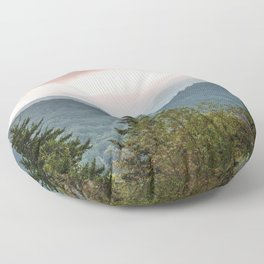 Great Smoky Mountain National Park Sunset Layers III - Nature Photography Floor Pillow