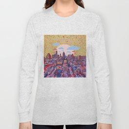 austin texas city skyline Long Sleeve T-shirt