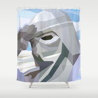 snow Shower Curtains featuring Snow by Liam Brazier