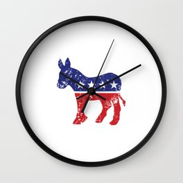 Democrat Original Donkey Distressed Wall Clock