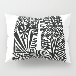 Alphabet Letter A Impact Bold Abstract Pattern (ink drawing) Pillow Sham