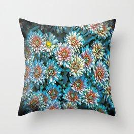Van Gogh Blue Chrysanthemum Throw Pillow